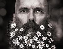 Biker with beard