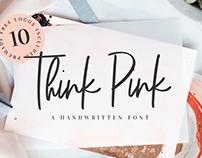 Think Pink Handwritten Font & Logo