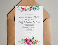 Wedding Invitation Design // Typography