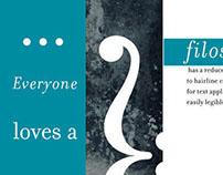 Filosofia Typeface Specimen Brochure