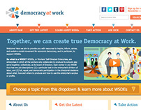 Democracy at Work (Web Design + Logo)