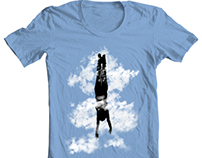 Free style down from the sky...Concept T-Shirt Design