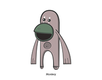 Monkey. Illustration