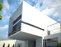 Modern house arch viz