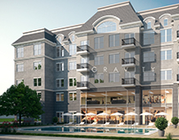 3d render of residential apartments