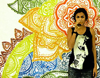 Henna Mural