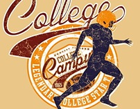 college sports vector art