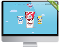 Dairy Product Manufacturer Website Design(Parallax)