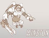 WINSTON - Owerwatch FanArt