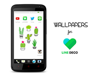 """Summer Collection"" Wallpapers for LINE DECO"