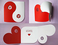Yin Yang Card for Valentine, Wedding, and Anniversary