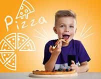 pizza social media design