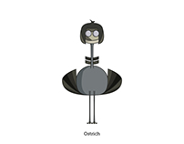 Ostrich. Illustration