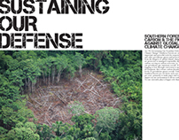 """Sustaining Our Defense"" Magazine Spread"
