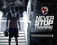 Never Stop Training Poster