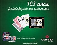 Anúncio Copag 103 anos