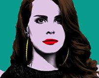 Lana Del Rey - El Rey poster