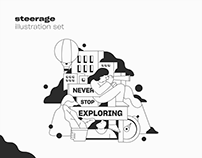 Illustration set / steerage
