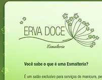Flash Site - Erva Doce Esmalteria