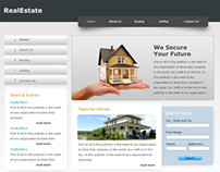 RealEstate: Free PSD Website Template