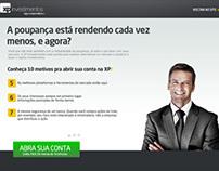 XP Investimentos - Landing page