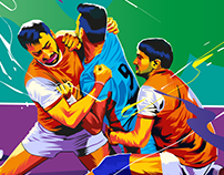 kabaddi illustrations