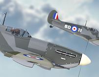 Spitfire MkV CGI