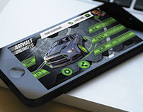 Mobile Racing Game (main screen)