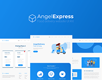 Angel Express | Food delivery website UI Kit