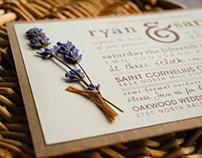 Rustic-Lavender Wedding Inviation Suite