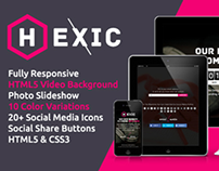 Hexic - Fully Responsive HTML5 Coming Soon Page