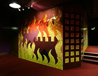Burning Castle Mosaic