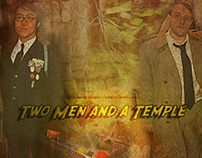 Two Men and a Temple Poster Mockup