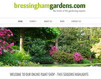 Bressingham Gardens web redesign (Shopify)