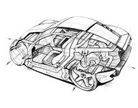 sketch Concept LADA Gran Turismo