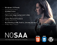 Nosaa Fullpage Slider WordPress Template