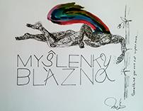 Ilustrace sbírky básní Myšlenky blázna - 1KŠPA Kladno