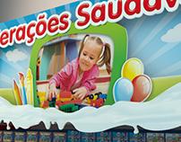 Decoração de Linear Infantil de Iogurtes | 2012