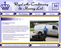 Web Design for Royal Air Conditioning & Heating Ltd.