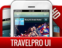 Travel Pro UIKIT (PSD) iPhone, Android, iPad