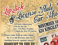 Lipstick & License Plate Event Flyer