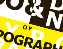 The DOs and DONT's of Typography