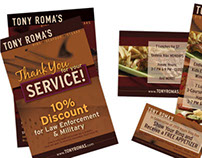 Tony Roma's Promotional Items