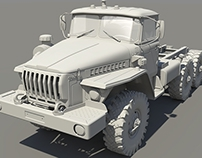 URAL 4320 - High Poly Modeling