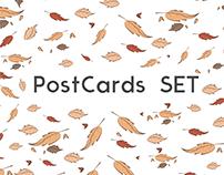 Animals PostCards Set
