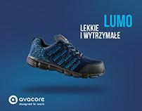 Advertising of LUMO work footwear