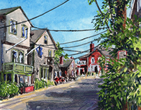 Rockport in Gouache