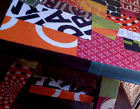 DIY: Collage on old bench