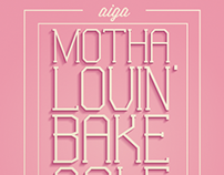 AIGA Valentine's Day Bake Sale Poster
