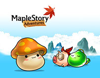 Facebook game UI-MapleStory Adventure